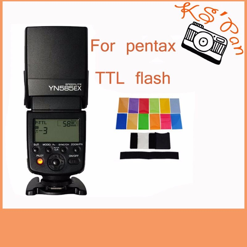Yongnuo Wireless Flash Speedlite YN585EX P-TTL for Pentax K1 K3 K3II K5 K5II K-5IIs K70 K50 K30 KS2 KS1 DSLR Camera amopofo 500mm f6 3 32 telephoto lens for pentax k10d k20d k7 k5 kr km kx k30 k50 camera