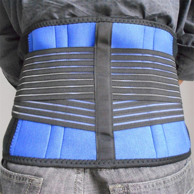 Men Posture Back Belt Waist Corset Back Brace Support Lumbar Brace Large Size Elastic Back Support Belt Women