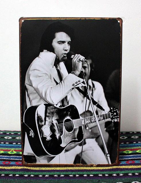 Vintagethe King Elvis Presley Retro Antique Metal Art Poster Tin