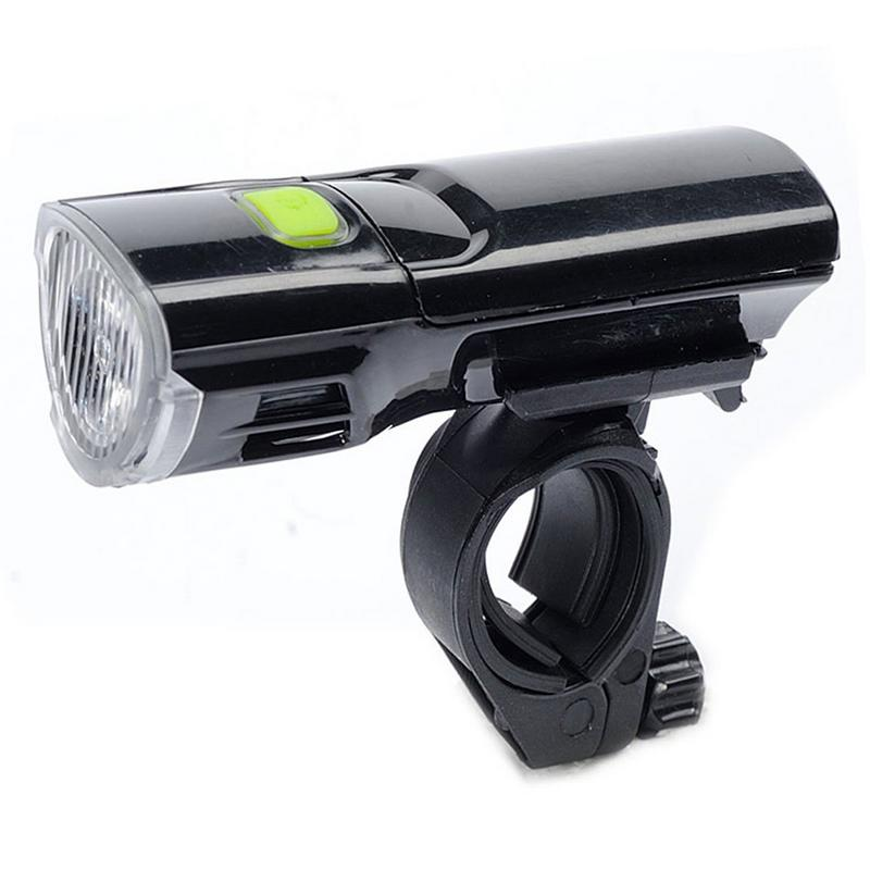 Outdoor Sports Cycling ABS Plastic Bicycle Headlights Warn Light Mountain Headlights Bicycle Accessories High Quality- Black