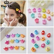 10pcs lot Cute kids hair claws Crown hair accessories Princess girls hair clips Hot sale Barrette