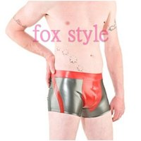 rubber short pants Underwears BOXERS silver and red