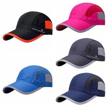 Unisex Running Cap escalada Cap cartas de impresión de secado rápido  escalada malla señoras sombrero Visor Cap Th 2fecace6cc6