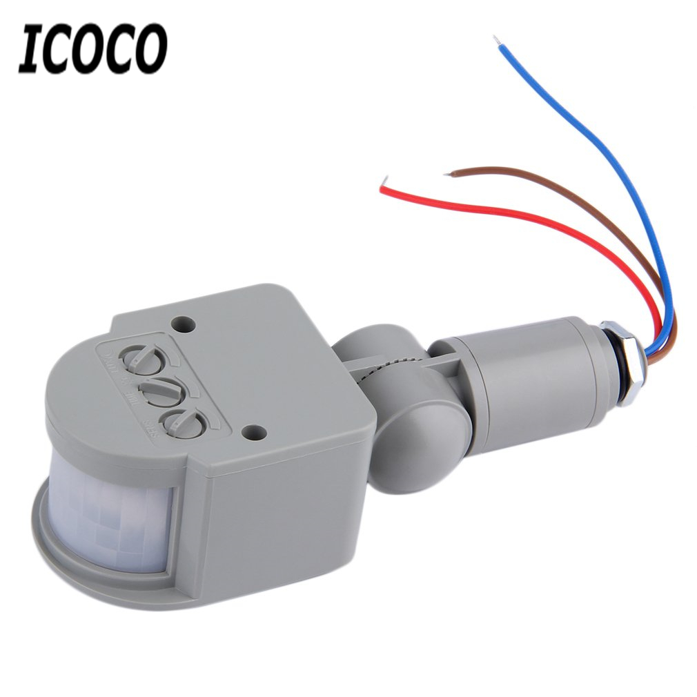ICOCO Motion Sensor Light Switch Outdoor AC 220V Automatic Infrared PIR Motion Sensor Switch for LED Light Drop Shipping Sale two size ac110 220v adjustable led infrared pir motion sensor detector ceiling automatic pir sensor light switch free shipping