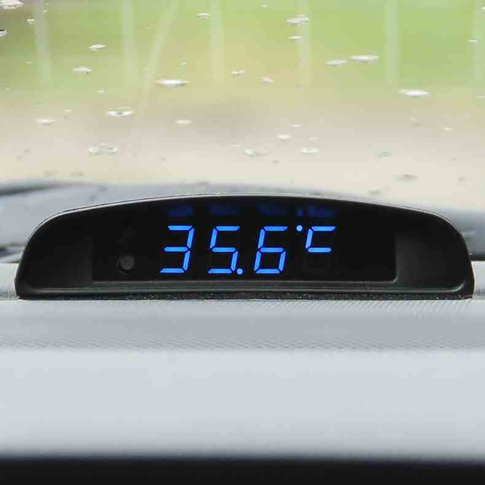 46c60e25d964 3 en 1 de reloj termómetro voltímetro pantalla adorno automóviles Interior LED  Digital Reloj Monitor de tensión Decoración en de en AliExpress.com