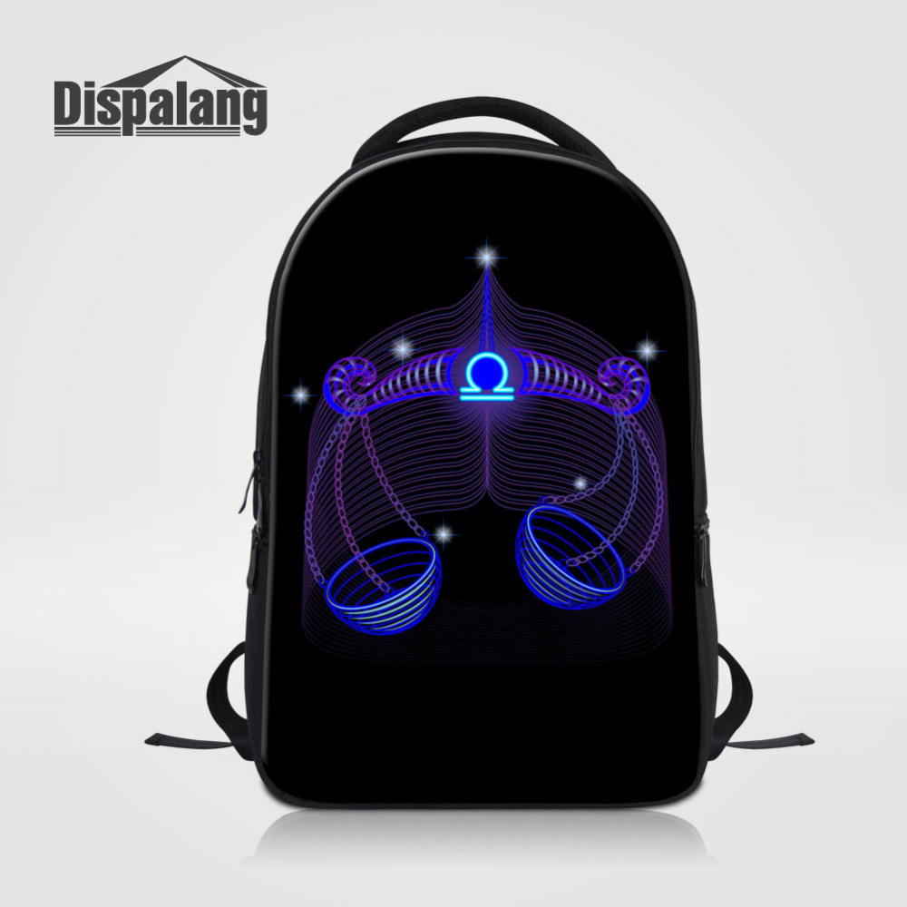 Dispalang Constellation Children School Bags Libra Printing Backpack For Men Women Casual Laptop Shoulder Bag Students Schoolbag dispalang creative stars print kids schoolbag felt laptop backpack for men women school bag for children galaxy student rucksack