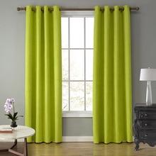 Sunnyrain 1-кусок замши Ткань зеленый Шторы для Гостиная полу плотные Шторы для Спальня шторы Top With eyelet cotinas