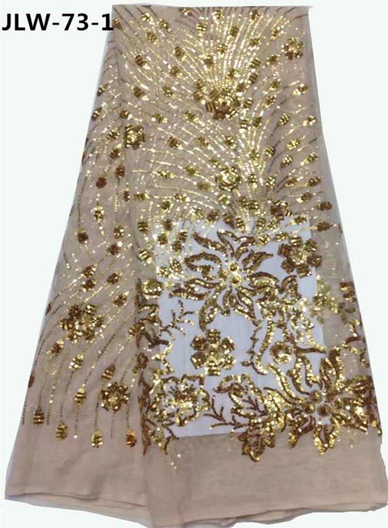 Layla Высокое качество французский чистая Кружево Ткань блесток цветок Африки Нигерии Тюль органза Кружево материал для одежды jlw-73