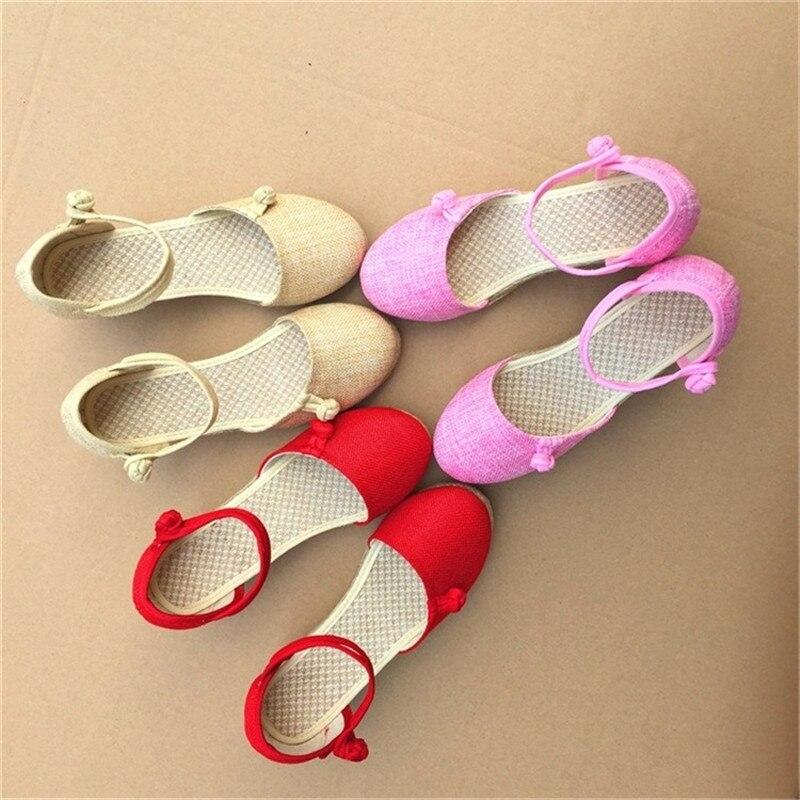 Correa La Mujeres De black Toe Cerrar Plataforma A Lona Moda pink Zapatos Sandalias Casual 2018 red Beige Color Cuña Verano Hecho Tobillo Mano Bomba Lino Sólido gAwRxqT0v