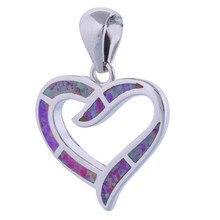 hot deal buy garilina love heart jewelry 925 sterling silver jewelry fashion jewelry pink fire opal pendant fine jewelry p285