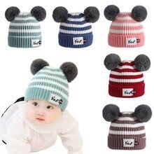 Regalo de Navidad lana invierno Hemming bebé sombrero lindo niño niños 0e60873b20a