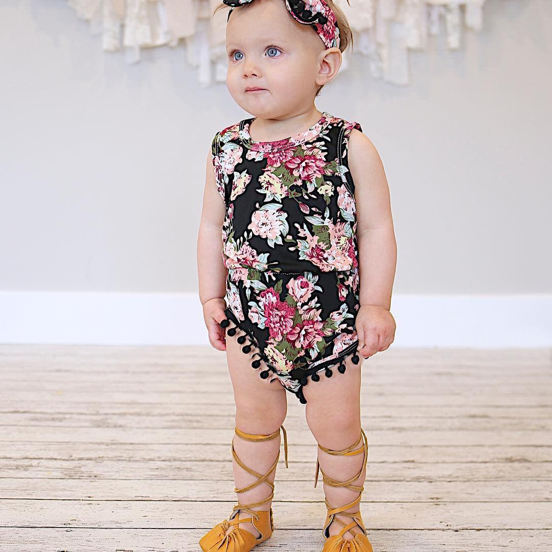 Summer-Baby-Girl-Romper-2017-Summer-Floral-Tassel-Bodysuit-Jumpsuit-Headband-2PCS-Outfit-Sunsuit-Tracksuit-Clothing-Set-1