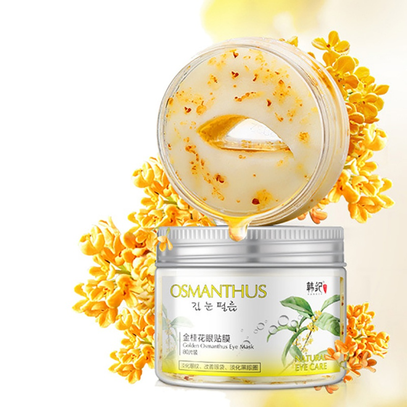 Gold Osmanthus Eye Mask 80 pcs Women Eye Masks Care Collagen Gel Whey Protein Face Care Sleep Mask Skin Care Beauty