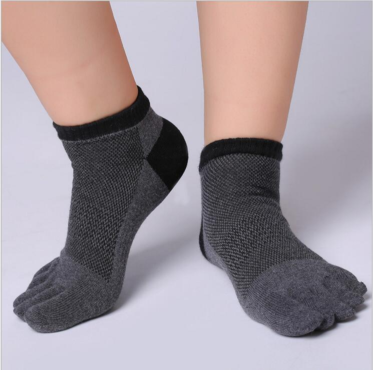 Boys Men Toe   Socks   Cotton Finger Breathable Five Toe Man   Socks   Fashion Patchwork Finger Toe Male   Socks