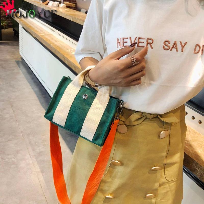 Fashion Women Crossbody Bag Patchwork Color Girls Messenger Bags Casual Zipper Canvas Tavel Mini Shoulder Handbags