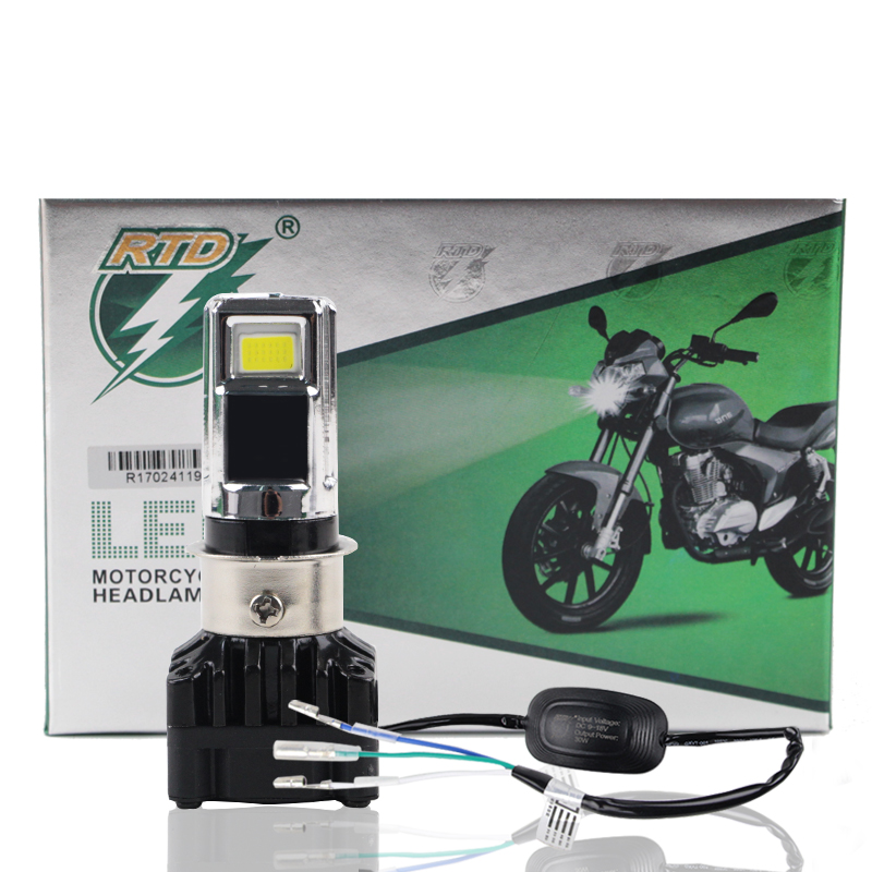 RTD M02D Universal Motobike Motorcycle LED Headlight Bulbs 30W 3000LM H4 HS1 H6 BA20D S2 P15D Head Lamp Accessories For Scooters