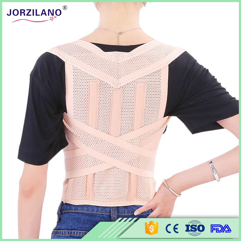 Free shipping Unisex Adjustable Back Posture Corrector Brace Back Shoulder Support Belt Posture Correction Belt for Men Women back posture correction belt for children beige