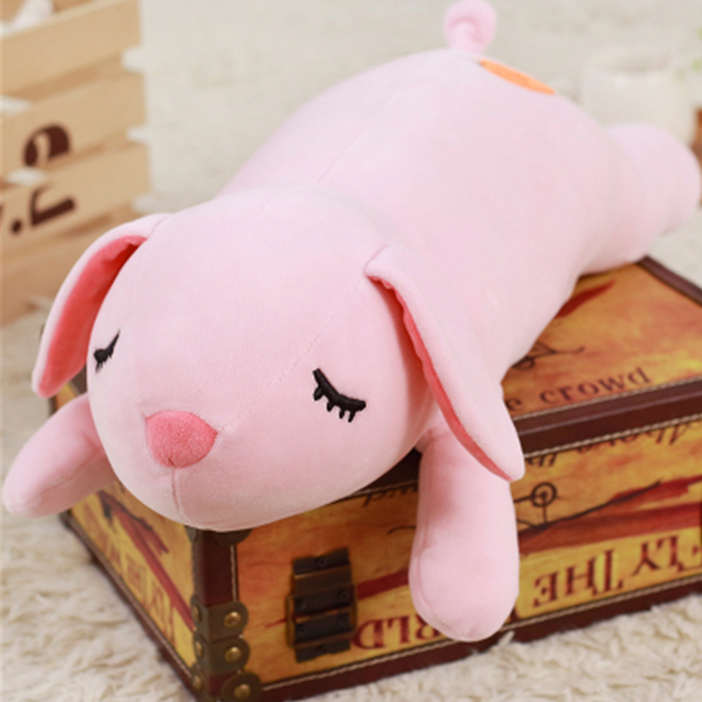Fancytrader Pop Soft Animals Bunny Pig Pillow Toys Stuffed Big Cute Rabbit Doll Kids Gifts 90cm fancytrader korea 120cm giant plush soft animal longer ears rabbit toy cartoon sleeping bunny doll gifts for friends kids