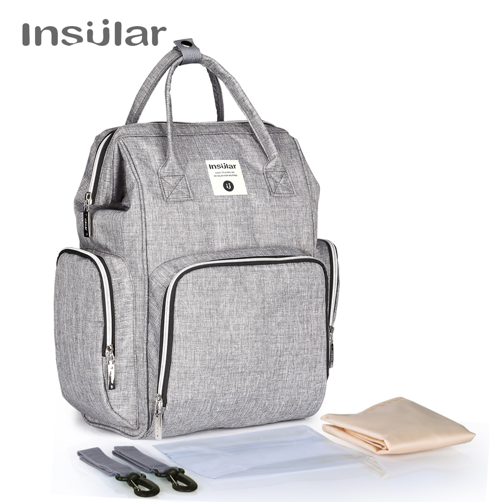 insular Brand Fashion diaper Bag Mummy Maternity Travel Backpack Baby nappy Bag Large Capacity mother Nursing Bag Baby Care