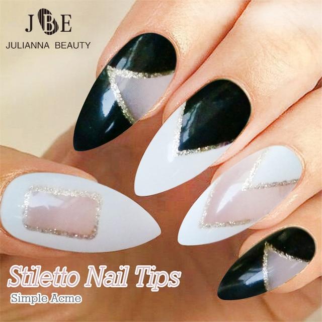 Aliexpress Buy 24pcs False Stiletto Nail Tips For Acrylic And