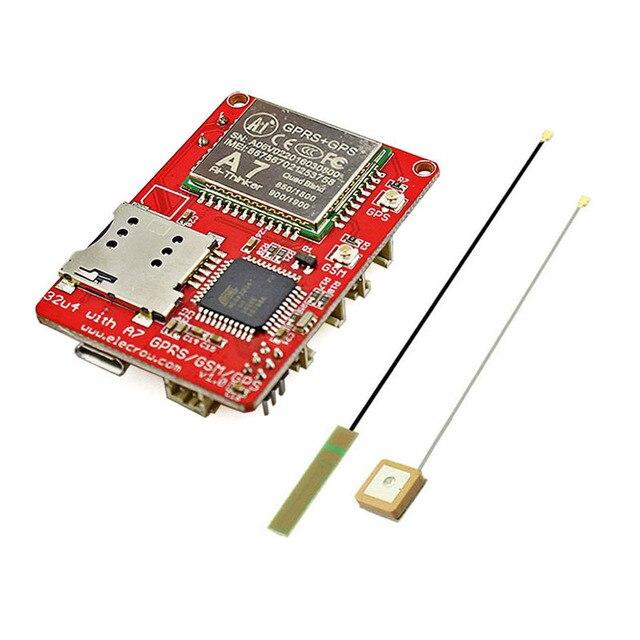 Elecrow A7 GSM GPRS GPS модуль с mega32u4 3 в 1 развитию GPRS GPS Беспроводной IOT проектов 3.7 В интегральные схемы A7