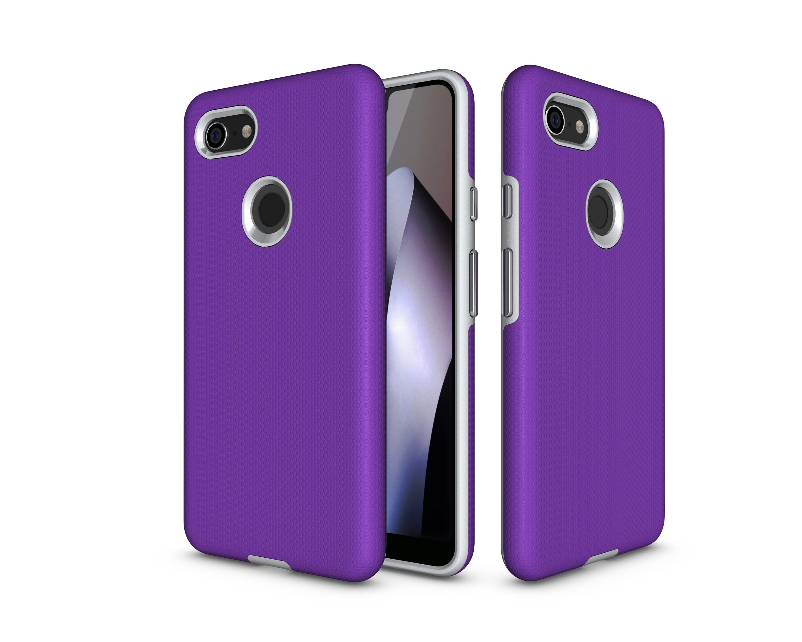 Dual Layer Armor Case For Google Pixel 3XL Rugged Shockproof Soft Silicone Hard PC Non-Slip Protective Case For Google Pixel 3XL