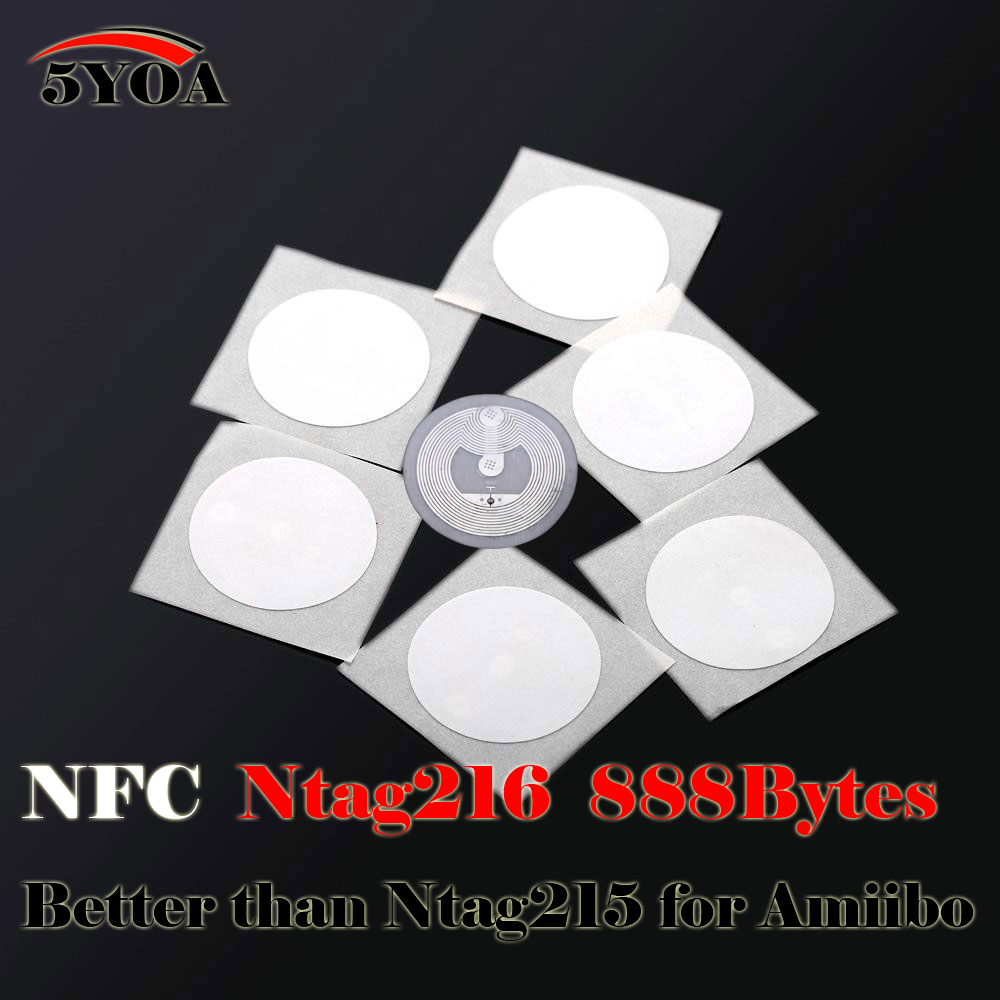 US $3 88 |10pcs NFC Ntag216 888 Bytes Tag Sticker Label Key Tags Token  Patrol Badge-in Access Control Cards from Security & Protection on