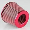 Carro Filtro De ar Frio 75mm Dual Funil Adaptador 3 ''76-88-100mm Cônico Rodada Mini RED Filtro De Admissão De Ar