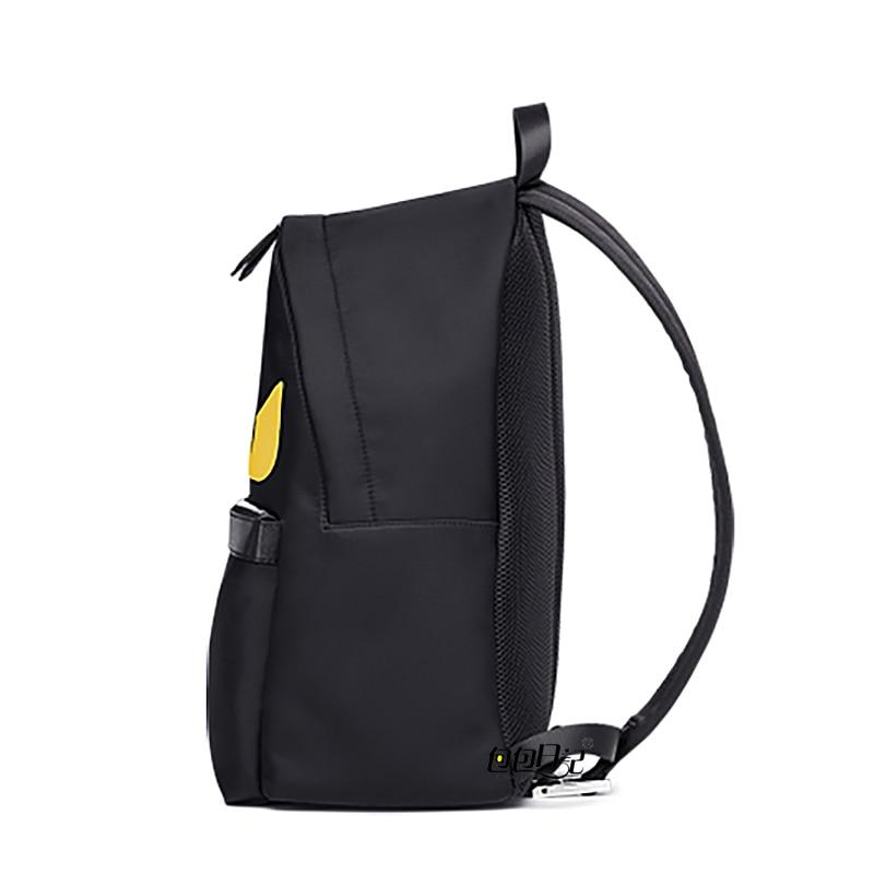 Women Little Monster Backpack Eye Men Waterproof Import Oxfo Bags Printing School Bag for Teenagers Mochila Escolar Black