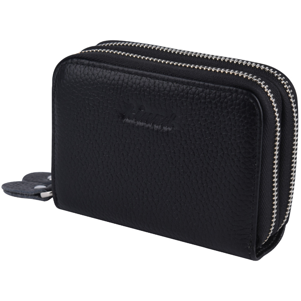 2c079ad1654 US $12.23 49% OFF|Accordion Wallet RFID Blocking Leather Card Wallet for  Women Accordion Zip Credit Card Case Holder-in Wallets from Luggage & Bags  on ...