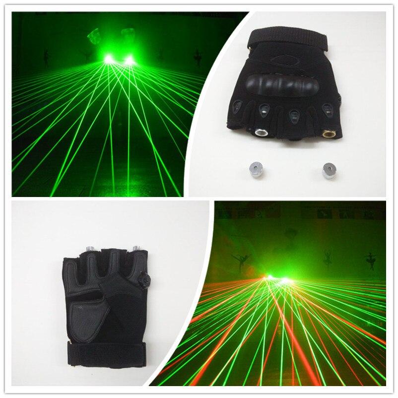 DJ 클럽 파티 쇼를위한 레이저로 도매 새로운 디자인 재충전 전지 녹색 / 빨간 레이저 남자 장갑