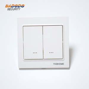 Image 5 - Z Wave plus EU Frequency 868.42MHz Two Channel Wall Mounted Switch socket TKB home TZ57 86X86mm type ( replace TZ65S TZ66S )