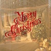 חג המולד מילת עיצוב אופנה חג המולד דקורטיבי מדבקת קיר ויניל קישוט בית מדבקות קיר חלון סלון דלת