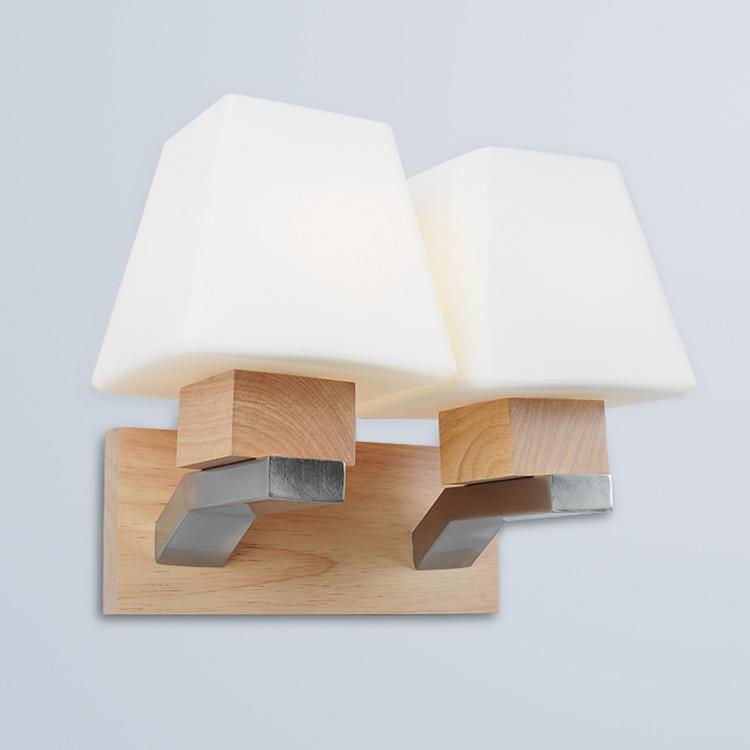 Твердая древесина квадратный деревянный спальня ночники простой коридор hotel настенный светильник CL mz132