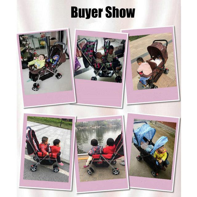 Poussette légère de 9.6KG pour jumeaux   Chariot pliable pour 2 enfants, avec siège ajustable, pour jumeaux violettes, idéale pour sasseoir