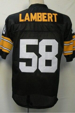 #58 Jack lambert Jersey,Throwback Football Jersey,Sport Jersey,Size M--XXXL,Accept Mix Order