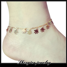 New Pulseras Dangle Hand Pendant  Anklet Rose Gold Plated Ankle Bracelet Bangles Ankle Femme For Women Lady Summer Foot Jewelry