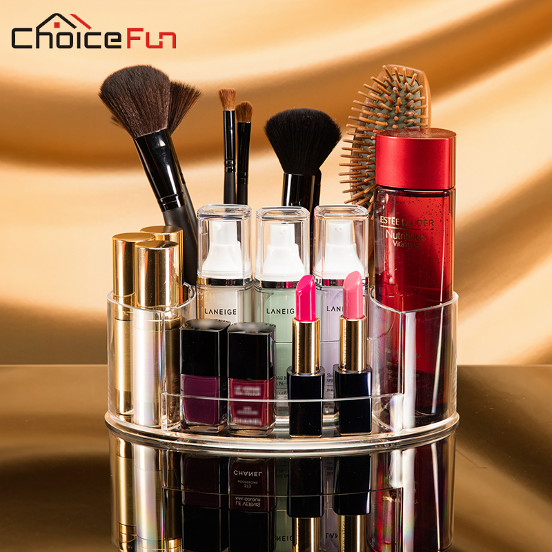 CHOICE FUN Multi-functional Bathroom Thing Storage Acrylic Make Up Cosmetic Holder Clear Makeup Brush Organizer For Cosmetics(China)