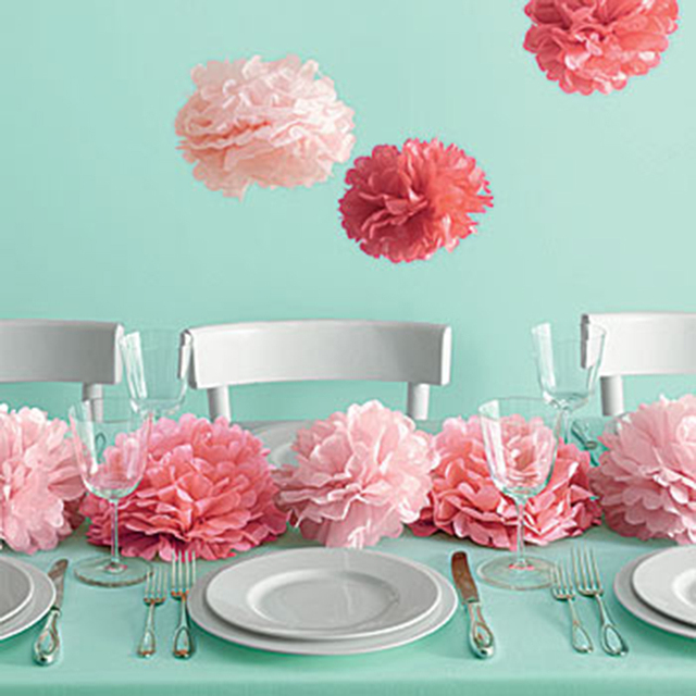 10pcs Wedding Decoration Table Centerpieces Paper Pom Poms Diy
