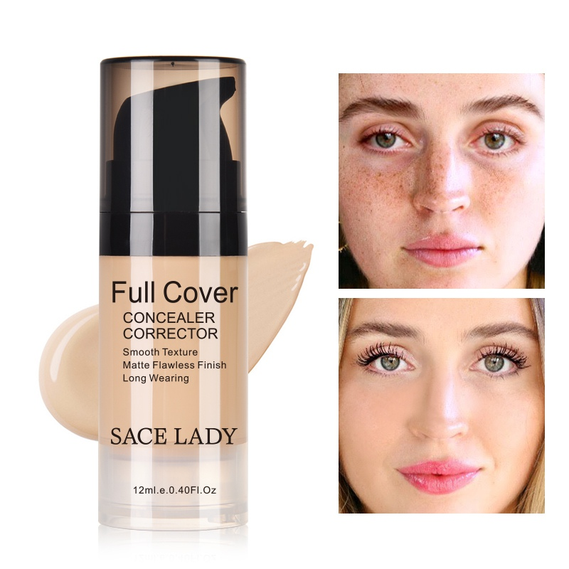 Face Concealer Cream Full Cover Makeup Facial Corrector Waterproof Base Make Up for Eye Dark Circles Cosmetic image