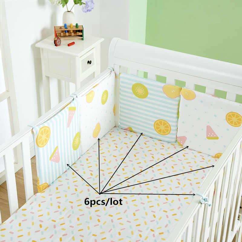 לנשימה תינוק מיטת פגושים 6 יח'\סט עריסה סביב כרית כרית מיטת מגן כריות יילוד תינוק מצעי תינוקות בטוח גדר קו