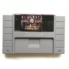 Ultimate Mortal Kombat 3 de Ultimate Fighting Game 16 bit Grote Grijze Game Cartridge voor USA NTSC Game Player(China)
