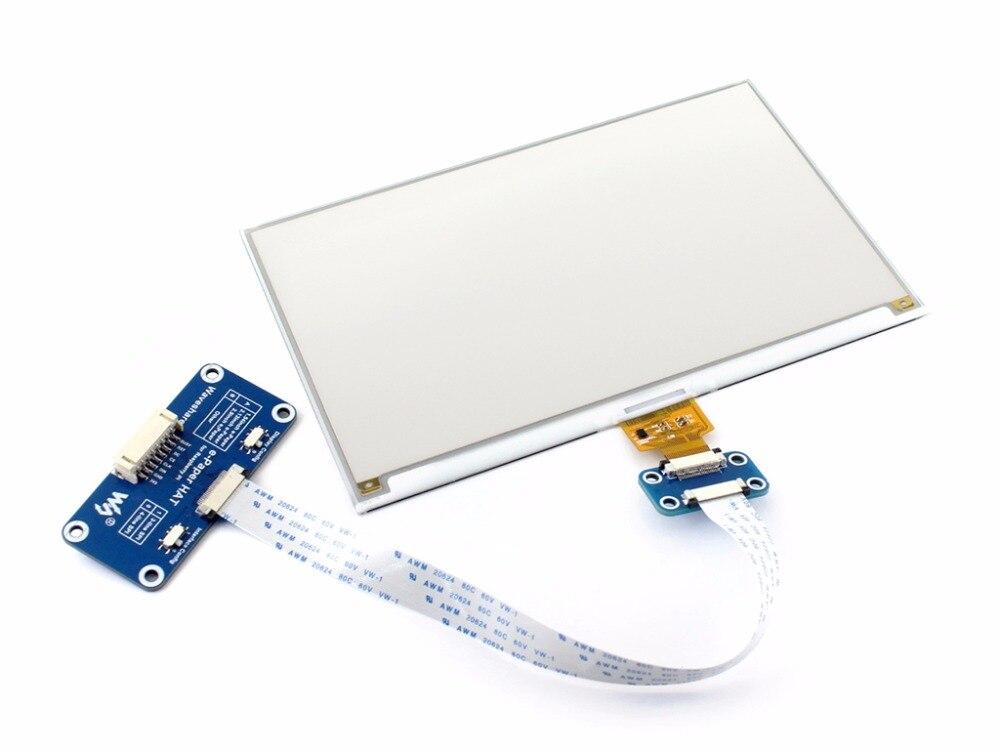 Image 2 - 7.5inch e Paper HAT (C) 640x384 E ink Display Module Three color SPI interface compatible with Raspberry Pi 3B/3B+/Zero/Zero W-in Demo Board from Computer & Office