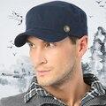 Мужской корейской молодежи открытый зимняя шапка приливные плоские кепка хлопка фуражке теплый осень зима бейсболка B-1526