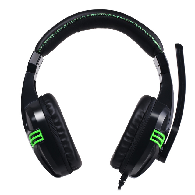Wired Earphone Gaming Headset PC Gamer Stereo Headphone with Microphone for Computer