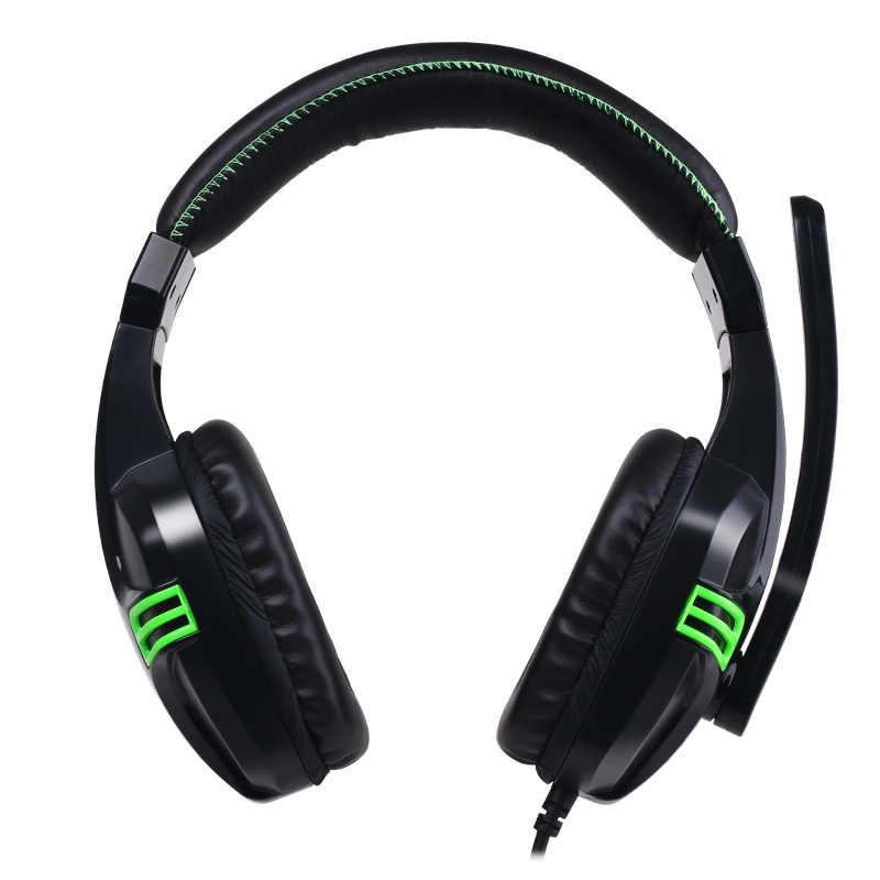 Salar KX101 3.5mm przewodowe słuchawki zestaw słuchawkowy do gier komputer dla graczy Stereo słuchawki z mikrofonem do komputera