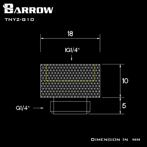 BARROW Extend 10 15 20 30 40mm Fitting G1 4 39 39 M to F Extend Connect Adapter Male to Female Increase 10 40mm Length Connector in Fans amp Cooling from Computer amp Office