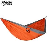 Durable 2 Persons Nylon Hammock 210T Parachute Hangmat Sleep Outdoor Camping Hamac Hanging Sleeping Bed 300
