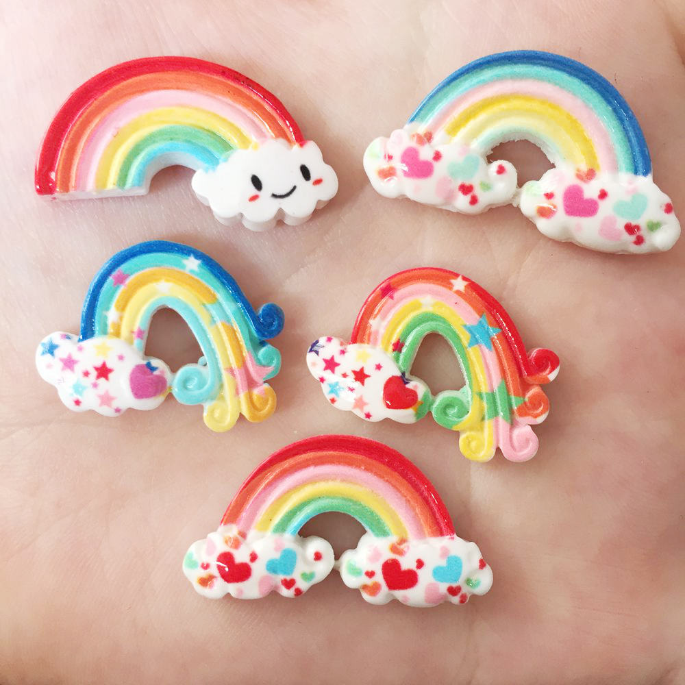 Lovely Resin 3D Colorful Bear Flat Back Stone Appliques 10pcs DIY Wedding Scrapbook Craft  OR31