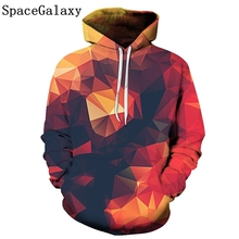 цена на New fashion SpaceGalaxy men's hoodie 3D sports hooded fir print casual SpaceGalaxy men's personality trend hoodie
